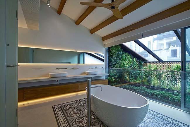 Nhà đẹp 2 tầng tràn ngập bầu không khí thiên nhiên ấm áp