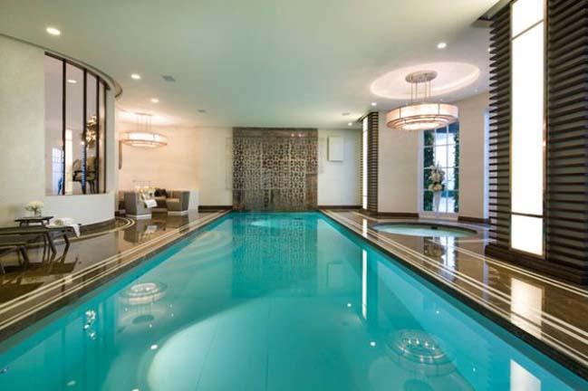 Những mẫu hồ bơi trong nhà với thiết kế hiện đại sang trọng