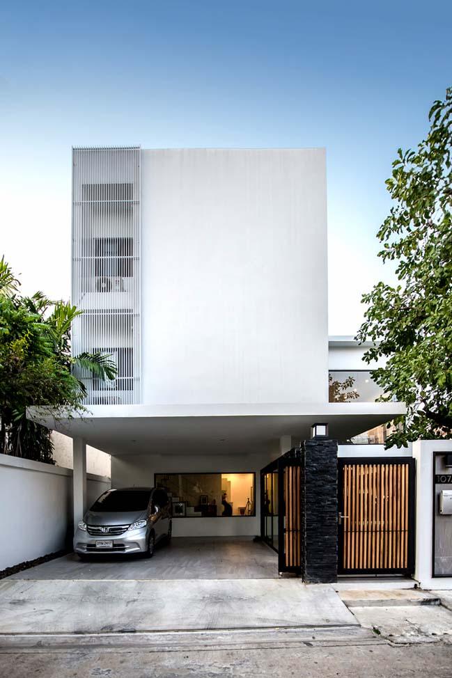 Mẫu biệt thự đẹp 3 tầng với kiến trúc chữ L