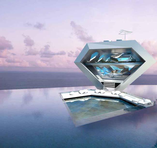 Ý tưởng độc đáo cho khu resort với kiến trúc Futuristic