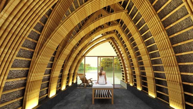Kiến trúc nổi bằng tre khu spa sang trọng của Võ Trọng Nghĩa