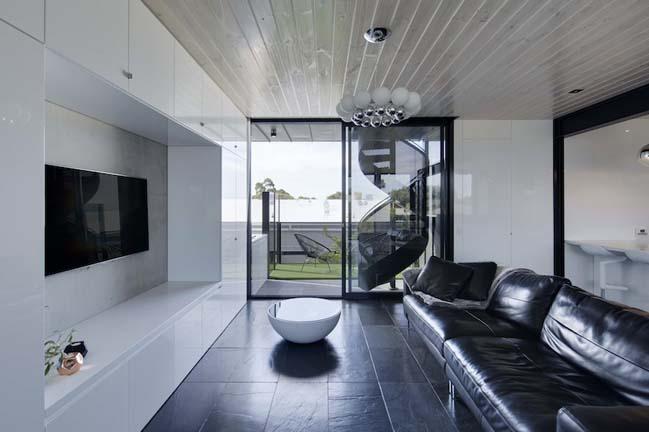 nha dep 2 tang 16 Tham quan mẫu thiết kế nhà đẹp 2 tầng với vẻ ngoài đơn giản cá tính