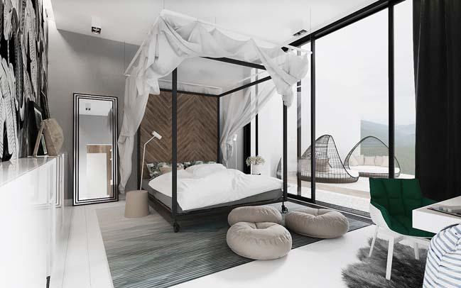 Mẫu phòng ngủ sang trọng với thiết kế hiện đại trẻ trung