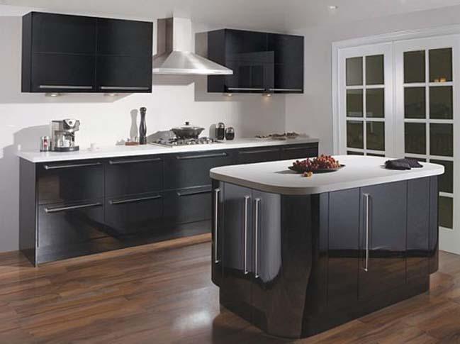 mau tu bep dep voi tong mau den 04 Thiết kế nhà bếp nổi bất với các tông màu tối