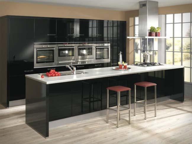 mau tu bep dep voi tong mau den 05 Thiết kế nhà bếp nổi bất với các tông màu tối