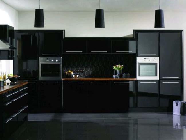 mau tu bep dep voi tong mau den 06 Thiết kế nhà bếp nổi bất với các tông màu tối
