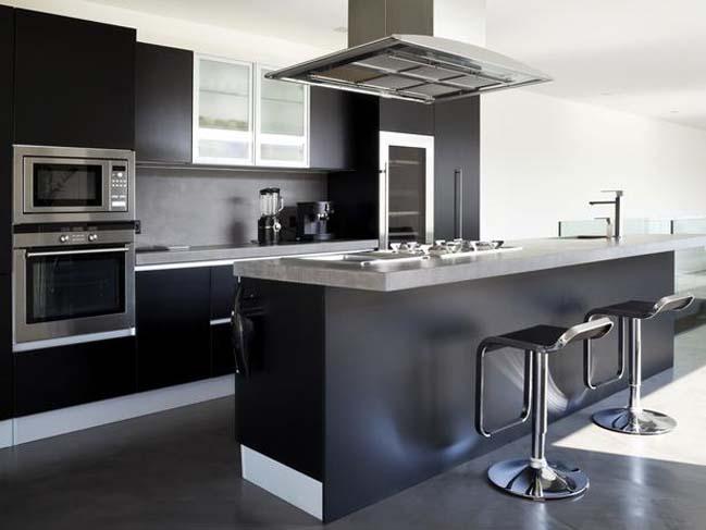 mau tu bep dep voi tong mau den 09 Thiết kế nhà bếp nổi bất với các tông màu tối