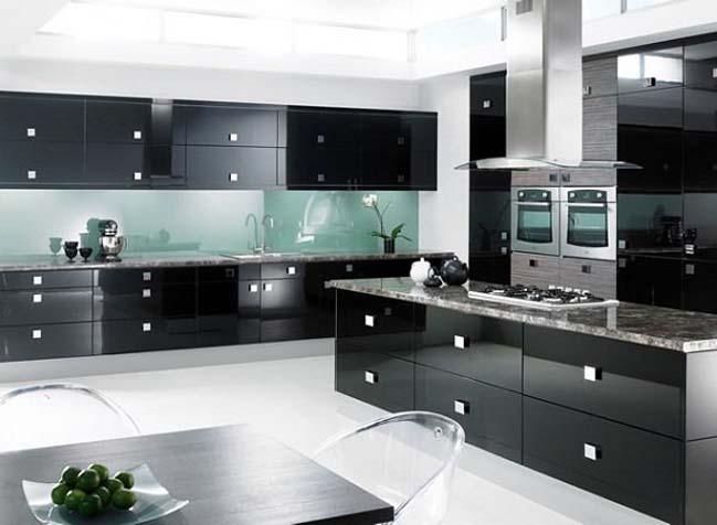 mau tu bep dep voi tong mau den 10 Thiết kế nhà bếp nổi bất với các tông màu tối