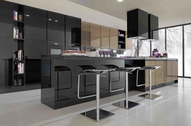 10+ mẫu tủ bếp đẹp với tông màu đen hiện đại