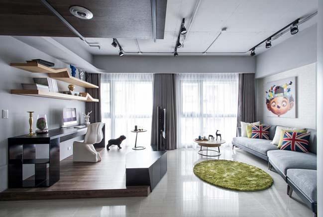 Nội thất căn hộ chung cư với tông màu hài hòa