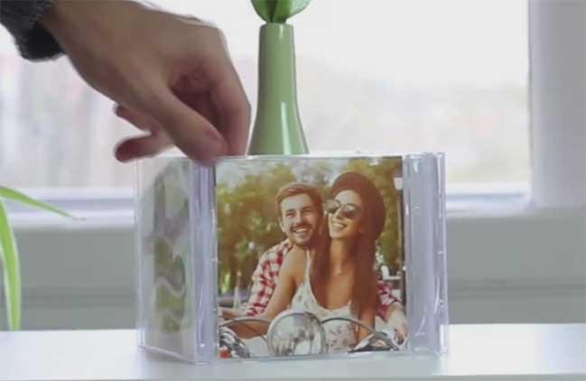 DIY: Tự tay làm khung hình 360 độ từ hộp CD