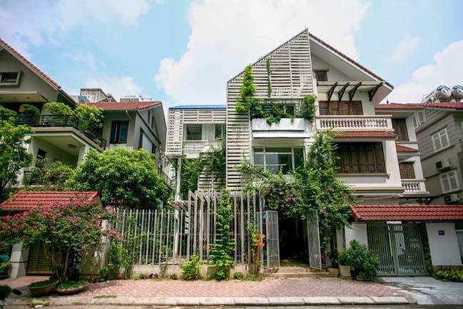 Biệt thự đẹp 3 tầng với thiết kế xanh tại Hà Nội
