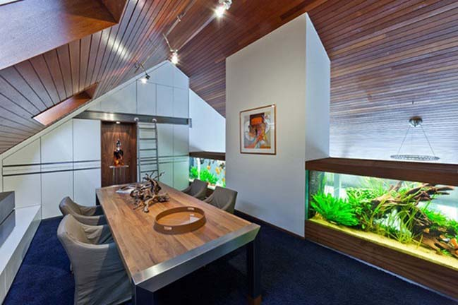 Mẫu biệt thự đẹp với lan can là hồ cá