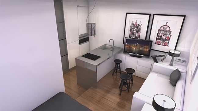 Video: Thiết kế cho căn hộ chung cư 16m2