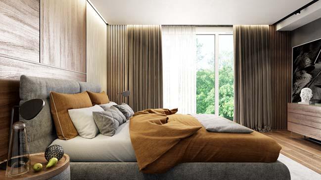 Mẫu nhà đẹp với thiết kế mộc mạc ấm áp