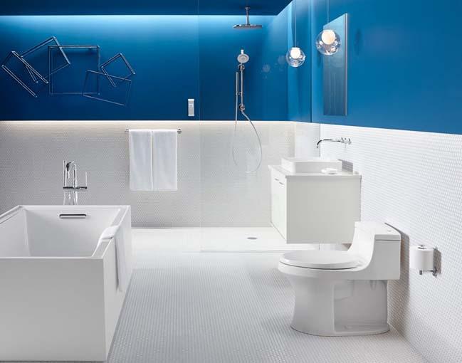 phong tam dep voi tong mau xanh va trang 09 Chiêm ngưỡng những mẫu phòng tắm đẹp với tông màu xanh và trắng sang trọng