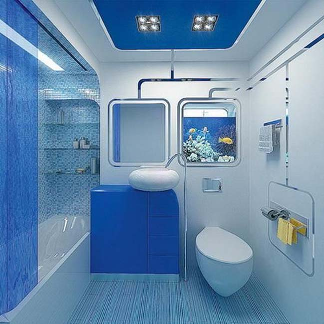 phong tam dep voi tong mau xanh va trang 12 Chiêm ngưỡng những mẫu phòng tắm đẹp với tông màu xanh và trắng sang trọng