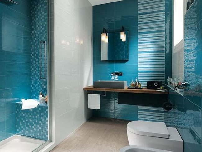 phong tam dep voi tong mau xanh va trang 14 Chiêm ngưỡng những mẫu phòng tắm đẹp với tông màu xanh và trắng sang trọng