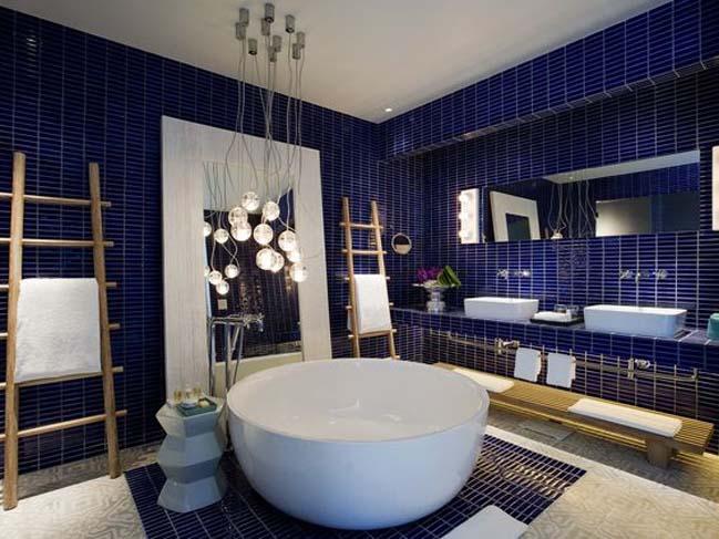 phong tam dep voi tong mau xanh va trang 15 Chiêm ngưỡng những mẫu phòng tắm đẹp với tông màu xanh và trắng sang trọng