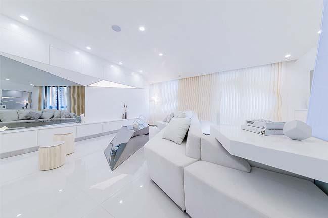 Thiết kế căn hộ nhỏ cao cấp lấy cảm hứng từ kim cương