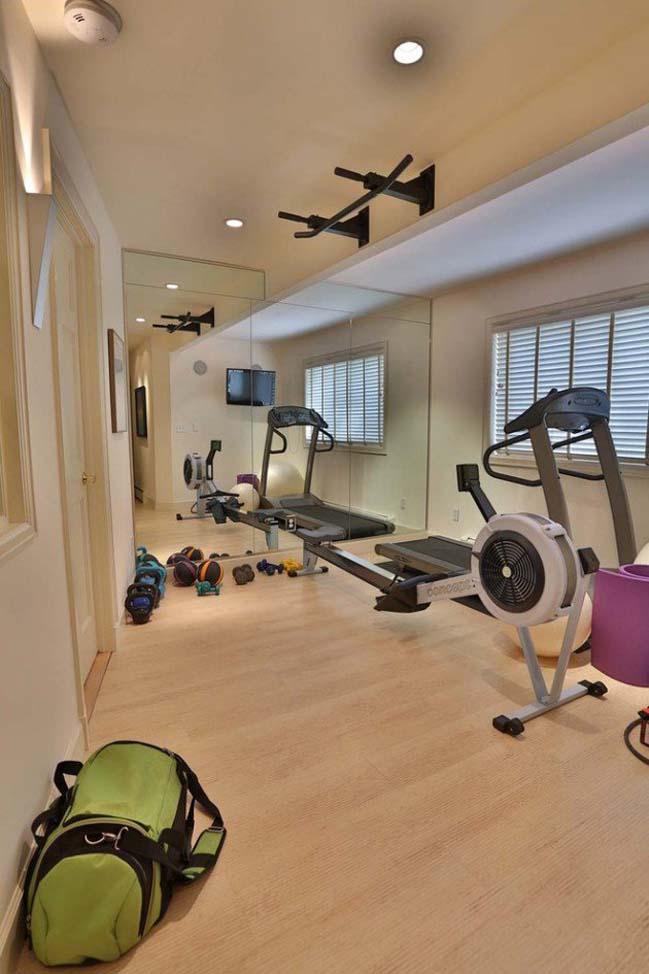 Những thiết kế tham khảo cho phòng tập gym tại nhà