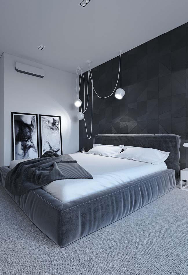 mau thiet ke phong ngu dep voi tong mau toi 02 Mẫu thiết kế phòng ngủ đẹp, cá tính cực huyền bí