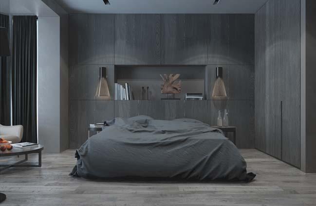 mau thiet ke phong ngu dep voi tong mau toi 07 Mẫu thiết kế phòng ngủ đẹp, cá tính cực huyền bí