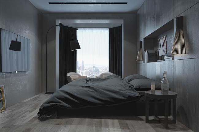 mau thiet ke phong ngu dep voi tong mau toi 08 Mẫu thiết kế phòng ngủ đẹp, cá tính cực huyền bí
