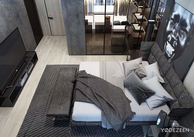 mau thiet ke phong ngu dep voi tong mau toi 10 Mẫu thiết kế phòng ngủ đẹp, cá tính cực huyền bí