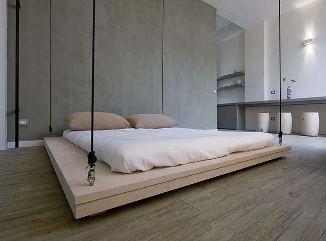 Biến phòng khách thành phòng ngủ với chiếc giường treo
