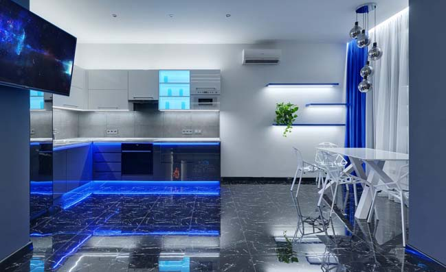 Căn hộ chung cư 75m2 với thiết kế sáng bóng nổi bật