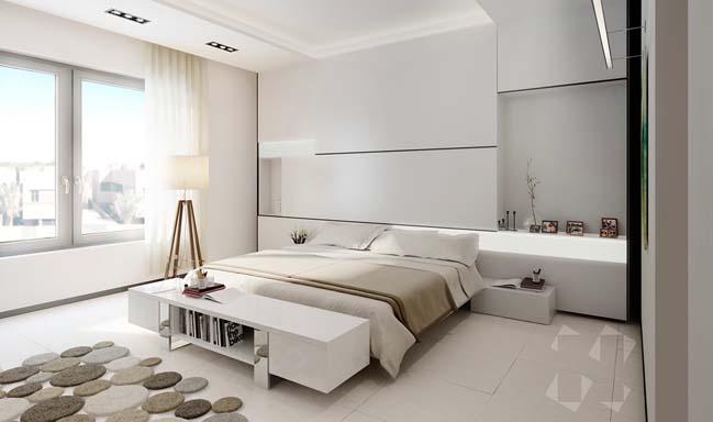 thiet ke phong ngu dep mau trang 02 Chia sẻ 20+ mẫu phòng ngủ đẹp với tông màu trắng