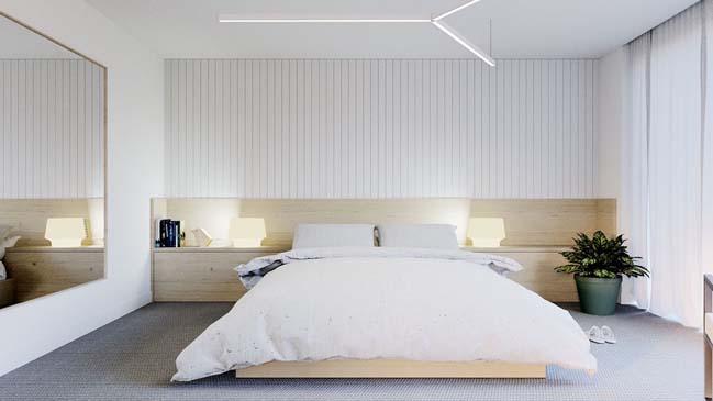 thiet ke phong ngu dep mau trang 03 Chia sẻ 20+ mẫu phòng ngủ đẹp với tông màu trắng