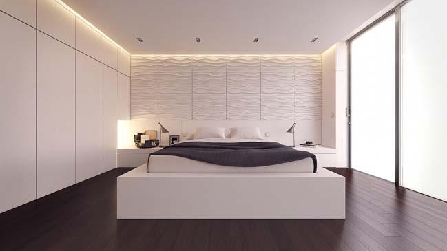 thiet ke phong ngu dep mau trang 04 Chia sẻ 20+ mẫu phòng ngủ đẹp với tông màu trắng