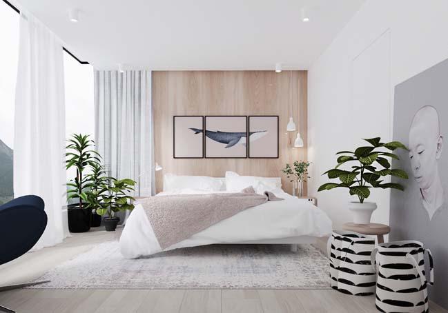 thiet ke phong ngu dep mau trang 05 Chia sẻ 20+ mẫu phòng ngủ đẹp với tông màu trắng
