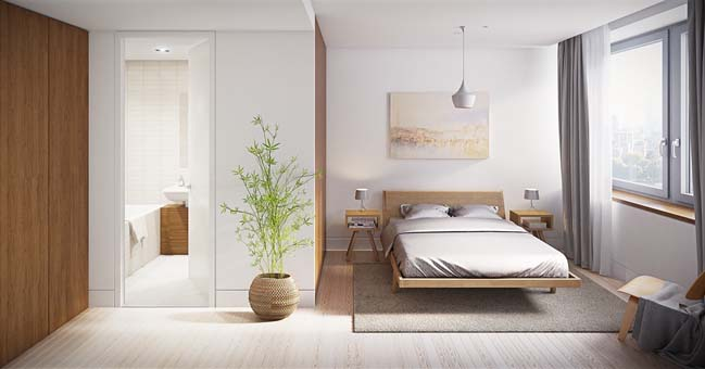 thiet ke phong ngu dep mau trang 06 Chia sẻ 20+ mẫu phòng ngủ đẹp với tông màu trắng