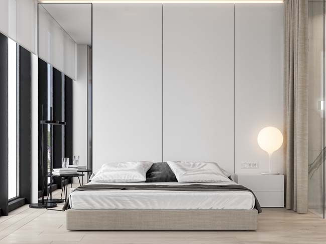 thiet ke phong ngu dep mau trang 07 Chia sẻ 20+ mẫu phòng ngủ đẹp với tông màu trắng