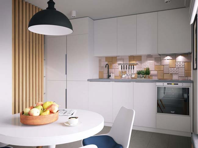 Cách thiết kế cho căn hộ chung cư nhỏ 34m2