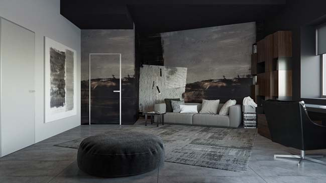 Tổng hợp những mẫu phòng khách đẹp với gam màu tối
