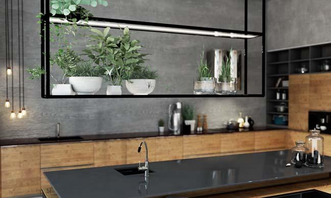 Mẫu nhà bếp đẹp với thiết kế đương đại sang trọng
