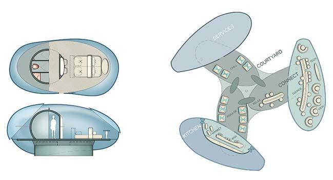 Ý tưởng thiết kế khách sạn sử dụng công nghệ bay