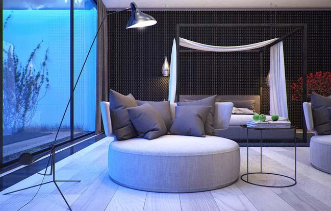 Mẫu nhà đẹp với thiết kế hiện đại đẹp mê hồn