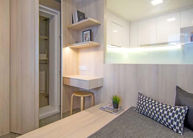 Mẫu thiết kế đẹp cho căn hộ chung cư 42m2
