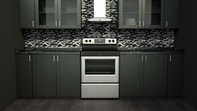mau tu bep dep mau den 03 Thiết kế nhà bếp nổi bất với các tông màu tối