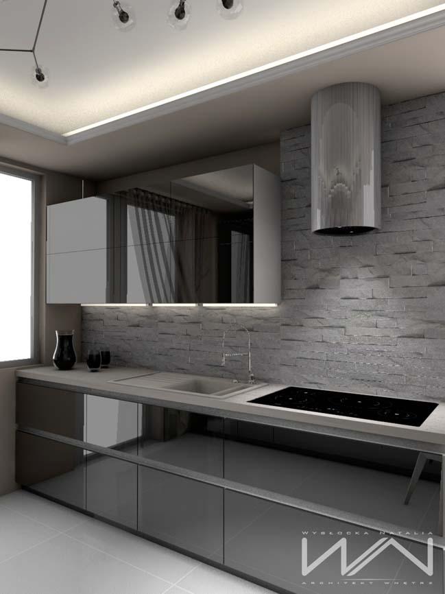 mau tu bep dep mau den 06 Thiết kế nhà bếp nổi bất với các tông màu tối