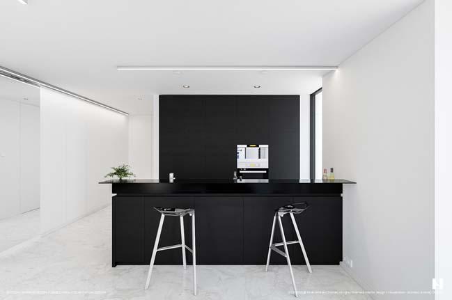 mau tu bep dep mau den 08 Thiết kế nhà bếp nổi bất với các tông màu tối