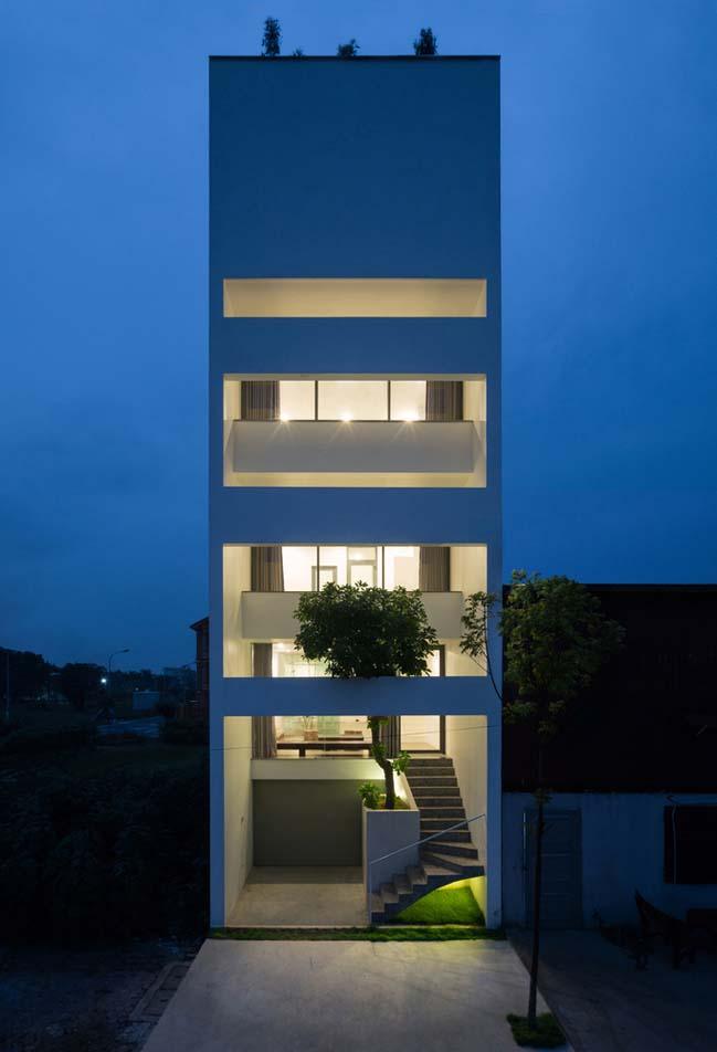 mau thiet ke nha pho dep 09 Chiêm ngắm mẫu thiết kế nhà phố đẹp 5x15m tại Bắc Ninh