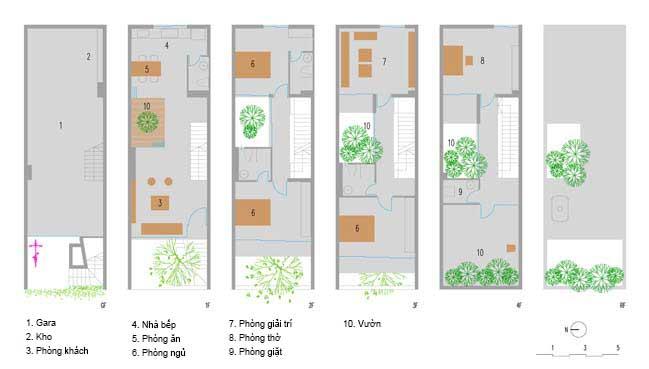 mau thiet ke nha pho dep 16 Chiêm ngắm mẫu thiết kế nhà phố đẹp 5x15m tại Bắc Ninh