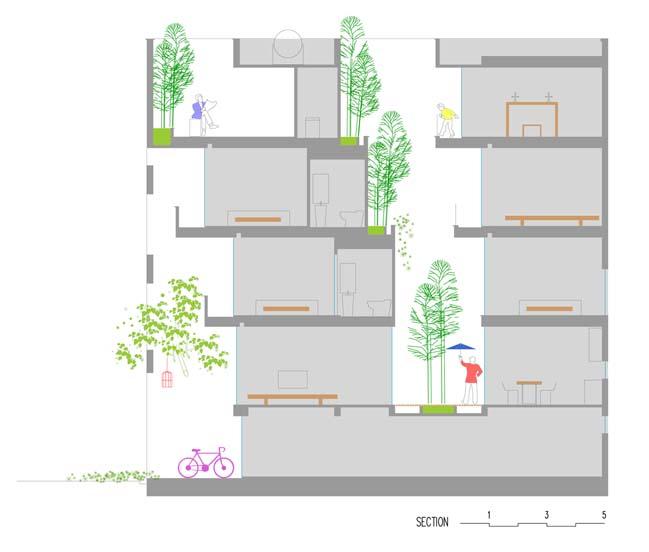 mau thiet ke nha pho dep 17 Chiêm ngắm mẫu thiết kế nhà phố đẹp 5x15m tại Bắc Ninh
