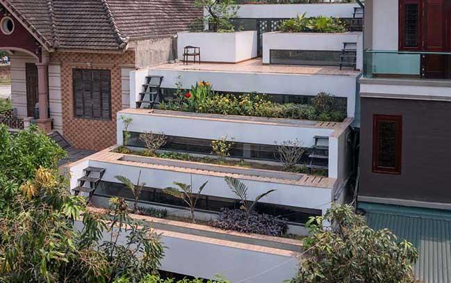 Mẫu nhà đẹp với thiết kế ruộng bậc thang tại Hà Tĩnh